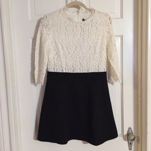 NWT Oulie cream lace and black dress.